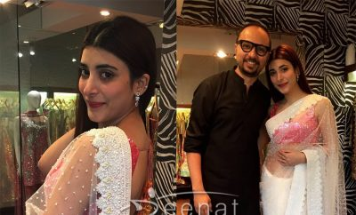 Urwa Hocane And Nomi Ansari poses together at Udaari Press Meet