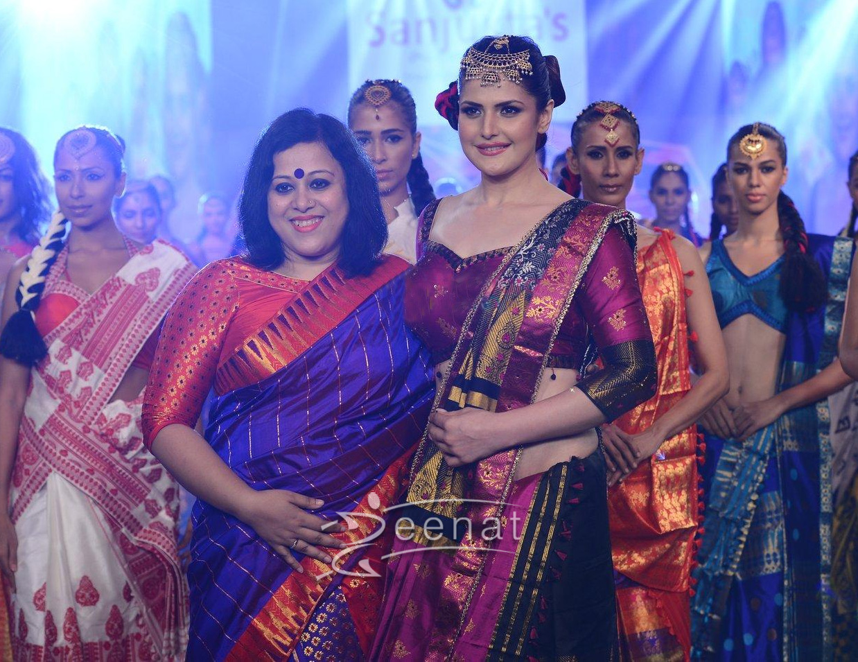 Zarine Khan walks for India Beach Fashion Week for designer Sanjukta Dutta