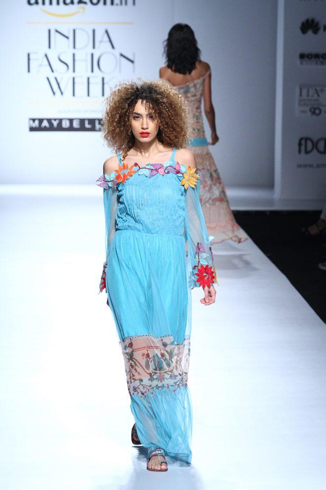 Rina Dhaka At Amazon India Fashion Week 2017 – AIFWSS17