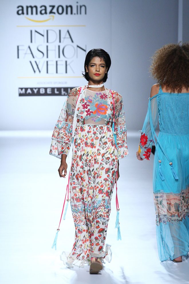 Rina Dhaka At Amazon India Fashion Week 2017 – AIFWSS17