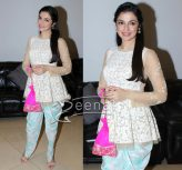 Divya Khosla Kumar In The Little Black Bow Outfit