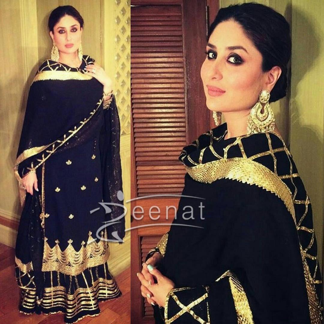 Kareena Kapoor Black Sukriti and Aakriti Salwar Kameez