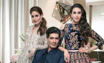 Kareena Kapoor Karisma Kapoor in Manish Malhotra For HELLO Magazine