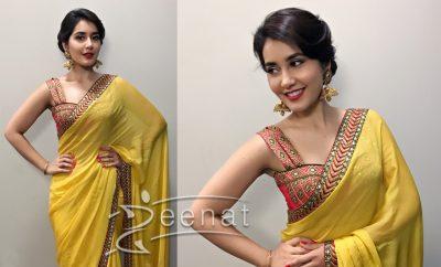 Rashi Khanna In Yellow Saree