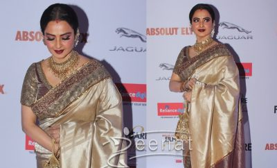 Rekha In Saree at Filmfare Glamour & Style Awards 2016