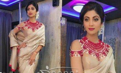 Shilpa Shetty In Manish Malhotra Backless Saree