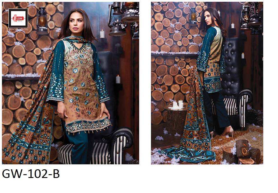 Lakhani Silk Mills LSM Winter Collection 2016