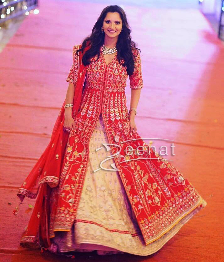 Sania Mirza In Anita Dongre at Her sister Wedding