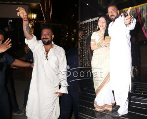 Sanjay Dutt and his wife For Diwali 2016