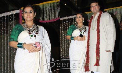 Vidya Balan with husband for Diwali 2016