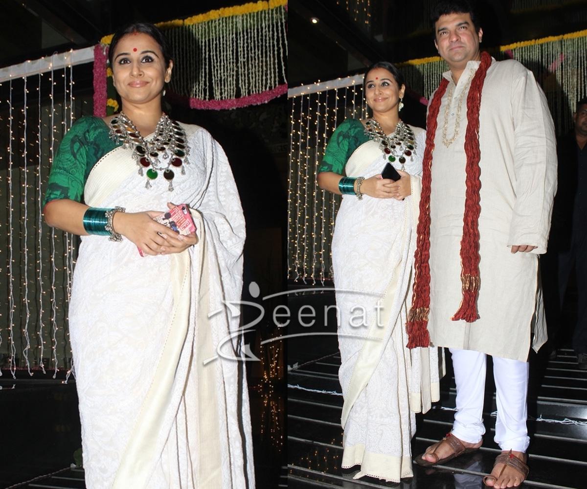 Vidya Balan with husband for Diwali 2016