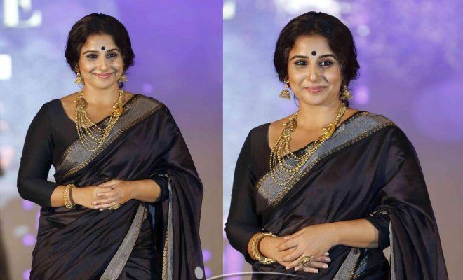 Vidya Balan walked the ramp for GFJ Fashion Nite