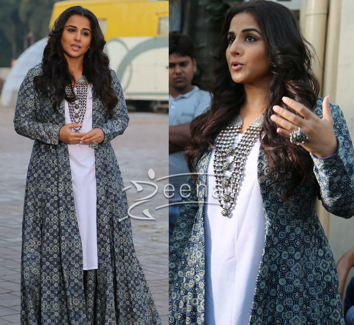 Vidya Balan In Zoraya Dress For Kahaani 2 Promotions