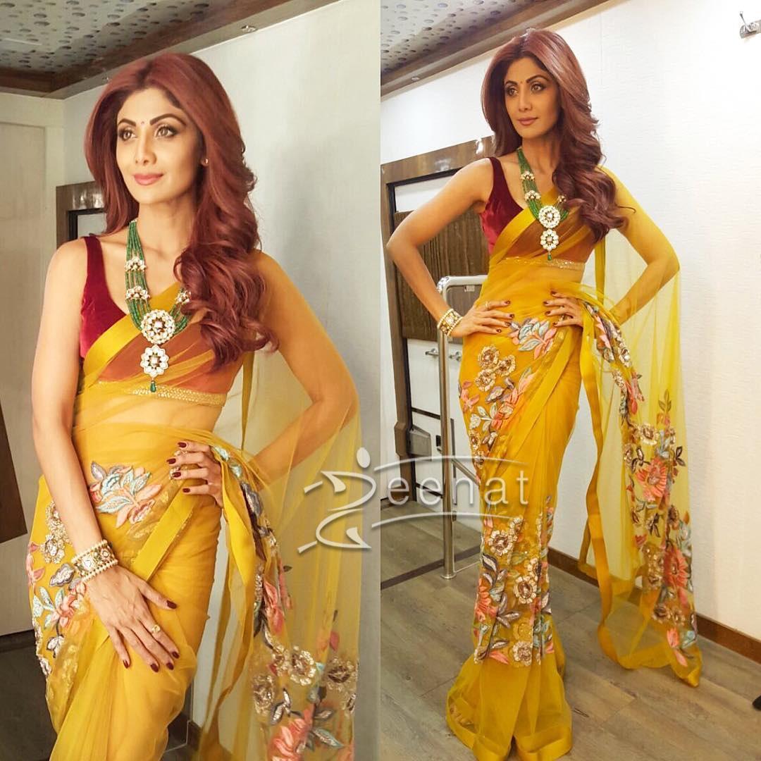 Shilpa Shetty In Manish Malhotra Saree 2017