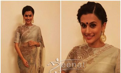 Taapsee Pannu in Bhumika Sharma Saree for Pride of India Awards