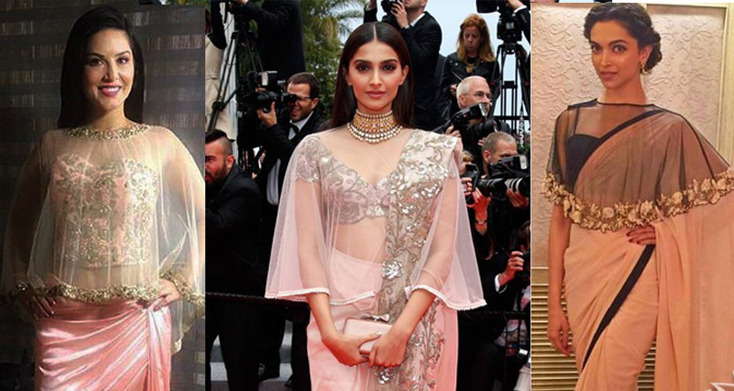 Bollywood Divas in Cape Saree Style