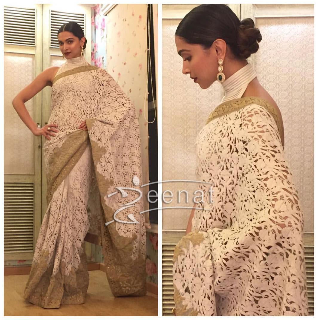 Deepika Padukone in Rohit Bal Lace Saree