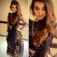 Hareem Farooq In Black Designer Outfit1