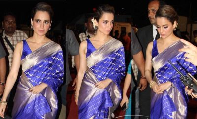 Kangana Ranaut In Madhurya Creation Saree at Umang 2017