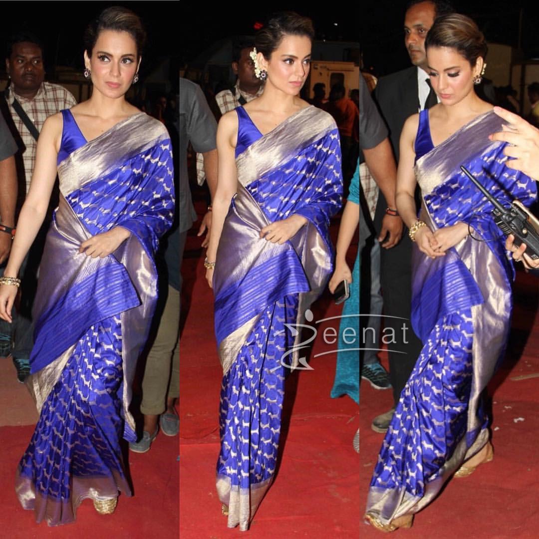 Kangana Ranaut In Madhurya Creation Saree at Umang 2017
