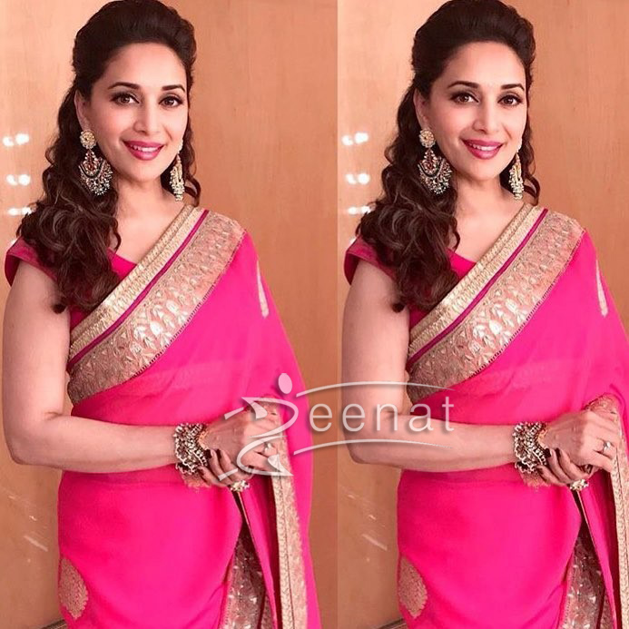 Madhuri Dixit in Anita Dongre Embellished Saree at Umang 2017