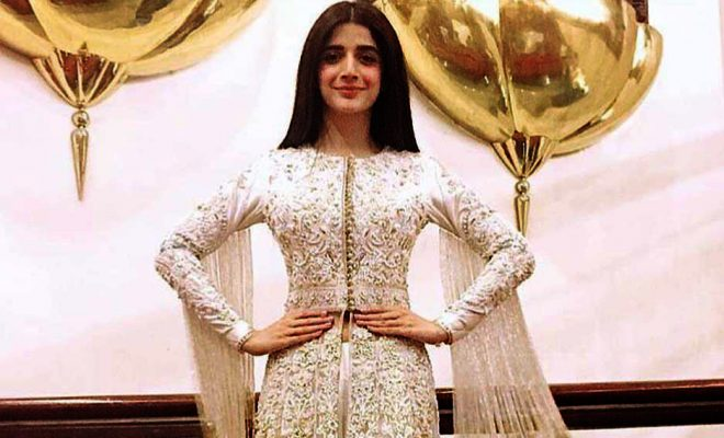 Mawra Hocane in Nomi Ansari's Dress for Sammi Presscon