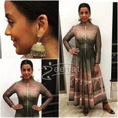 Mugdha Godse in Kavita Bhartia Anarkali for Roopa Vohra and Mitali Vohra Calendar Launch