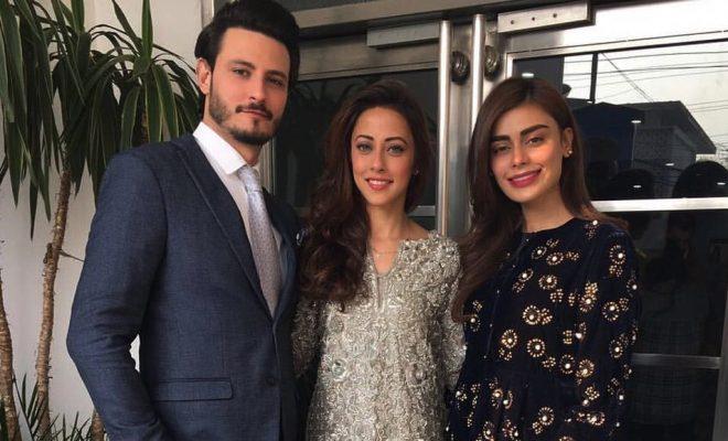 Osman Khalid Butt, Ainy Jaffri and Sadaf Kanwal Promotes BALU MAHI