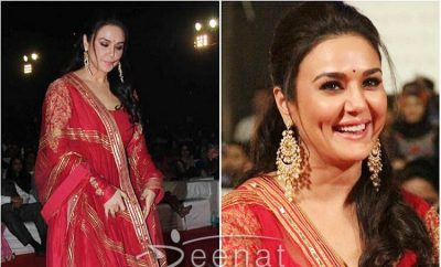 Preity Zinta In Rimple Harpreet Narula Anarkali Dress