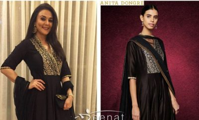 Preity Zinta Gorgeous In Anita Dongre Anarkali