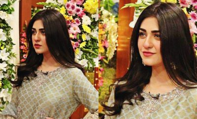 Sarah Khan in Jago Pakistan Jago for HUM TV 12th Anniversary Celebration
