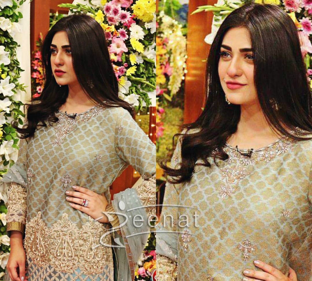 Sarah Khan in Jago Pakistan Jago for HUM TV 12th Anniversary Celebration