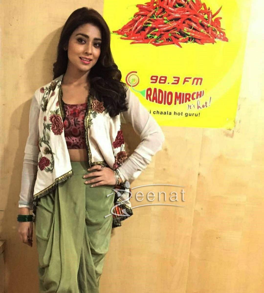 Shriya Saran In Anand Kabra Tulip Pants