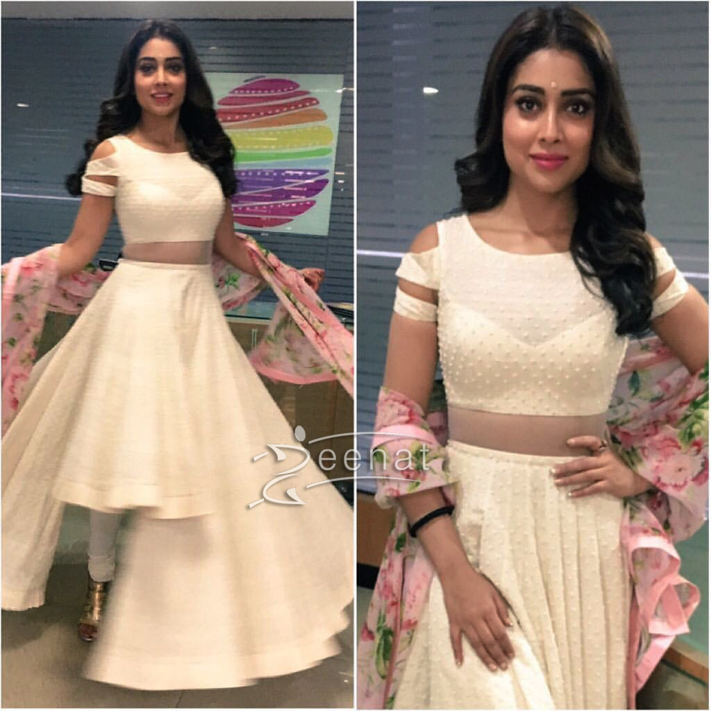 Shriya Saran In Anushree Reddy Floral Anarkali Frock