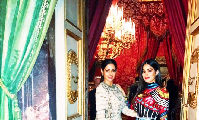 Sridevi with daughter Jhanvi Kapoor in Sabyasachi Couture 2017