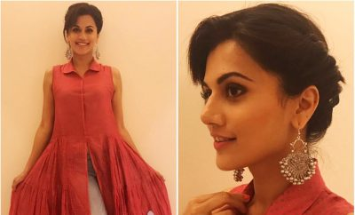 Taapsee Pannu in Red Flared Top