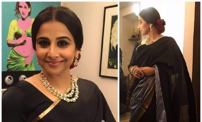 Vidya Balan in Raw Mango Saree | Film Fare Awards 2017
