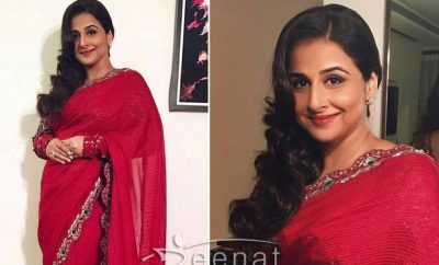 Vidya Balan In AM PAM Red Saree