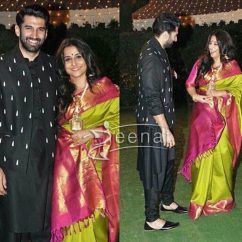 Aditya Roy Kapoor In Black Kurta Pajama by Shantanu Nikhil and Prima Czar