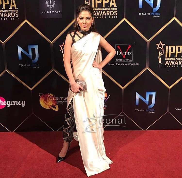 Ayesha Omar in StudioS Saree at IPPA Awards