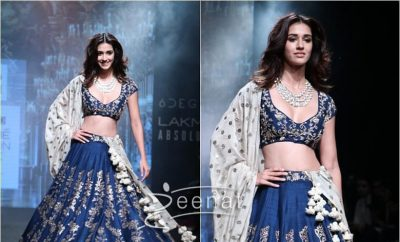 Disha Patani in Jayanti Reddy Label at Lakme Fashion Week 2017