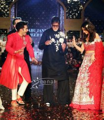Varun Dhawan, Alia Bhatt and Amitabh Bachchan walked for CPAA Fashion Show wearing Abu Jani-Sandeep Khosla.