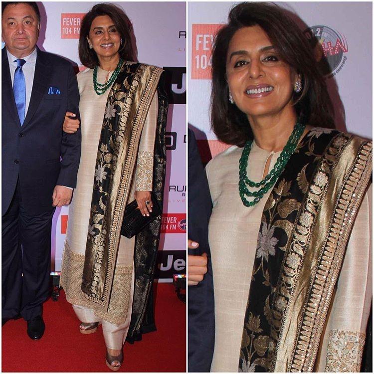 Rishi Kapoor and Neetu Kapoor at the HT MOST STYLISH AWARDS 2017