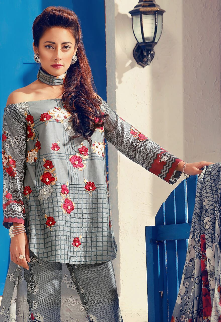 Cross Stitch Summer Lawn Collection 2017 Ainy Jaffri (1)