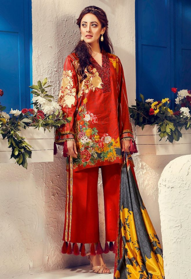 Cross Stitch Summer Lawn Collection 2017 Ainy Jaffri (40)