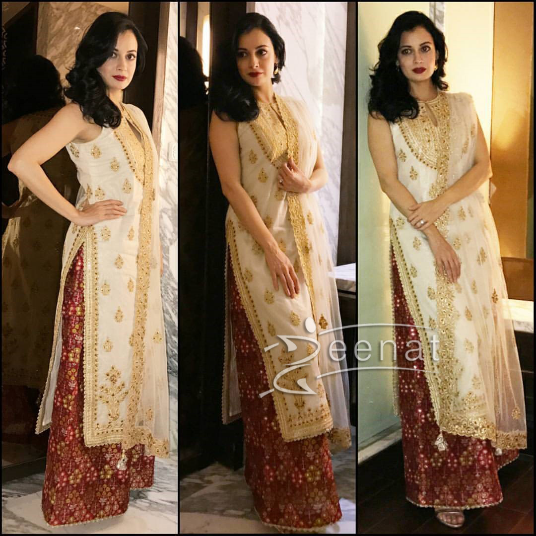 Dia Mirza in Tamanna Punjabi Kapoor Dress