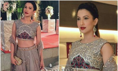 Gauhar Khan in Monika Nidhi Lehenga Choli