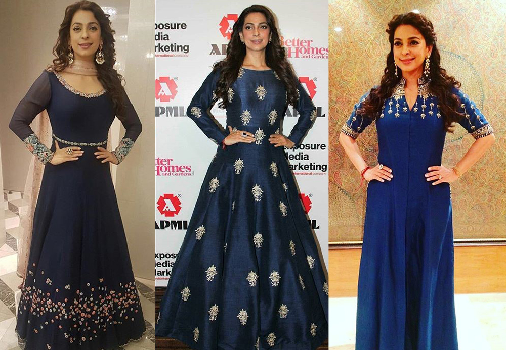 Juhi Chawla in Shades of Blue