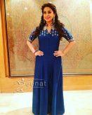 Juhi Chawla Blue Evening Gown
