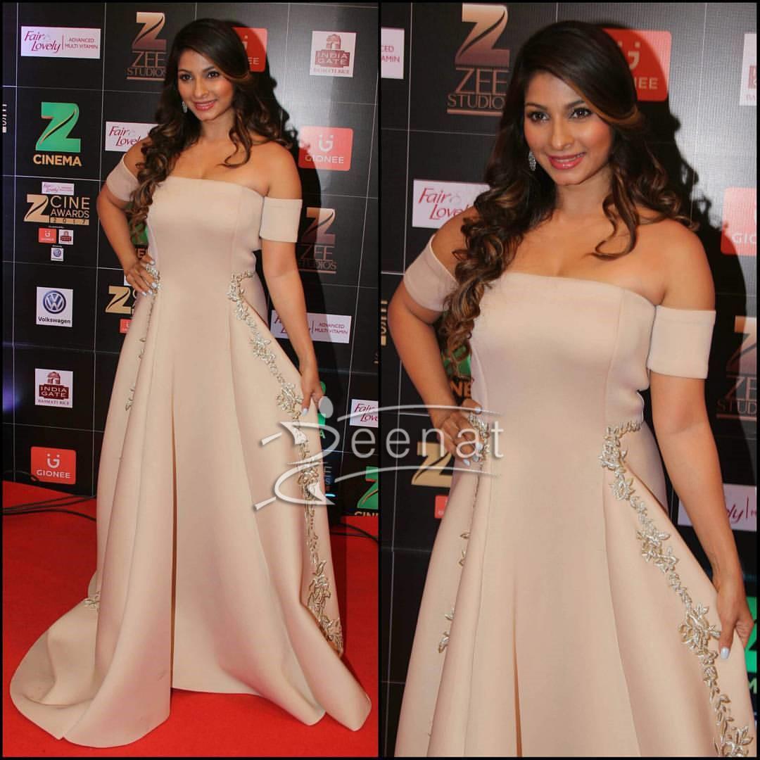 Tanisha Mukherjee in Reeti Arneja Gown at Zee Cine Awards 2017